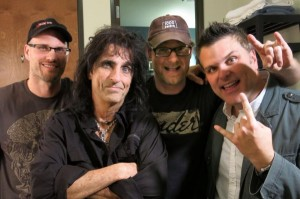 Alice Cooper with SIX14 Productions - Bill Sloggatt, Justin Sloggatt and Bryan Beasley.